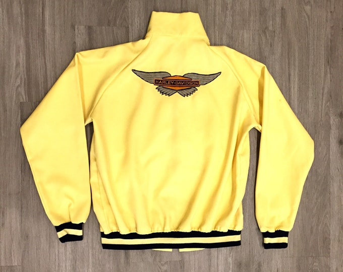 60s Track Jacket with Harley Davidson Patch