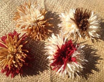 SILK FABRIC FLOWER. Hawaiian Hair Clip Flower. Choose Your Color. Perfect For Beach Wedding. Luau, Gifts.