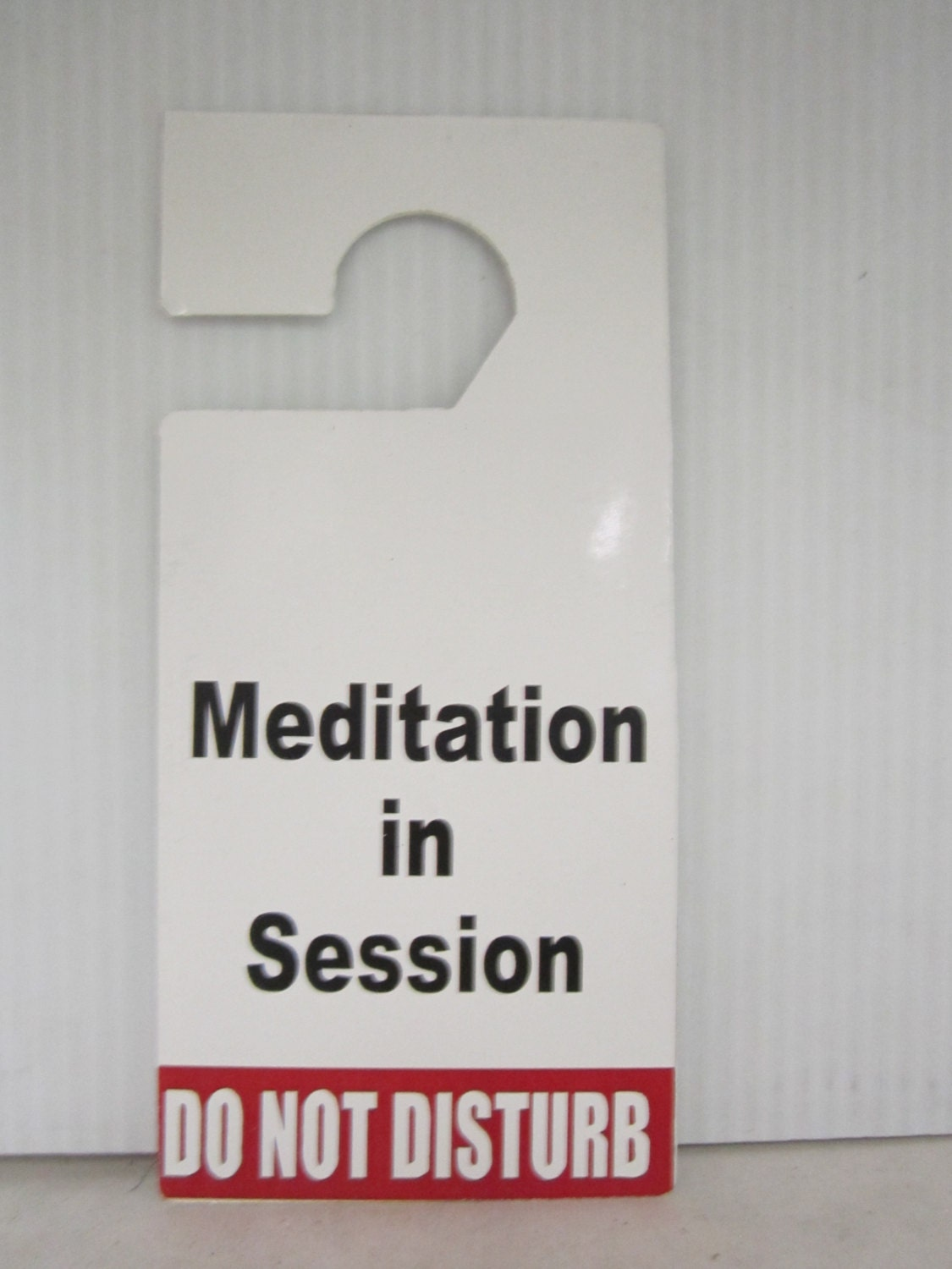Meditation in session Do Not Disturb Door Hanger Sign