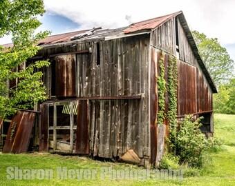 Decaying Barn - Fine Art Photo Print, Wall Decor, Barn Photograph, Farm, Landscape, Barn Print