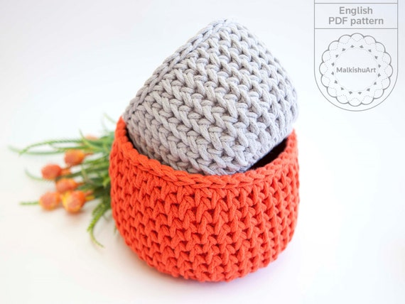 Crochet Basket Pattern,Crochet Pattern, Crochet Home Décor, Crochet Storage  Basket, DIY Basket, DIY Crochet Basket, Diy Pdf