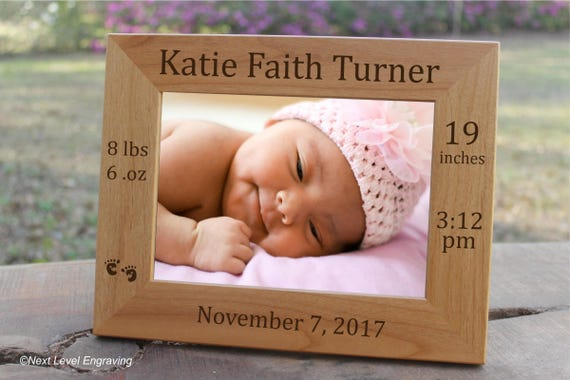 New baby gift personalized frame newborn baby coming home day negle Image collections