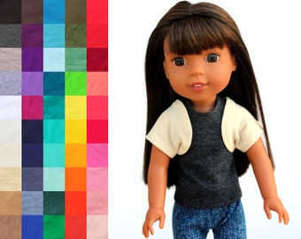 Fits like Wellie Wishers Doll Clothes - The Basic Shrug, You Choose Color   14.5 Inch Doll Clothes