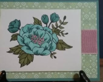 Blended Teal Flower
