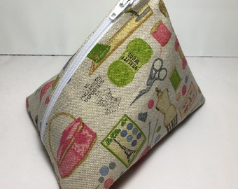 Cosmetic Bag/Boxed Zipper Pouch/Humbug Bag/Make Up Bag/Gadget Bag/Cosmetic Pouch