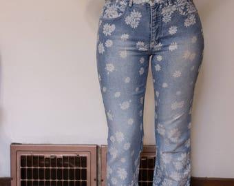 Vintage Flower Print Jeans
