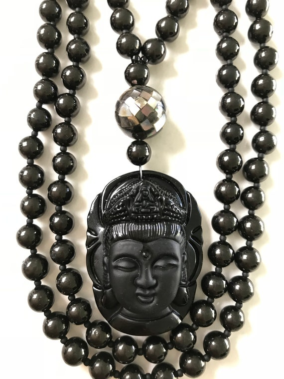 Jet and Obsidian Mala/Prayer Beads