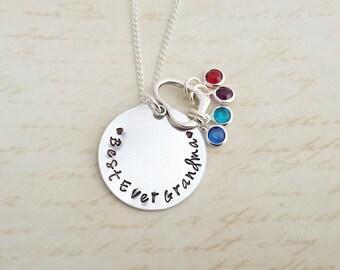 grandma necklace, grandma jewelry, gift for grandma, grandchildren birthstones, grandchildren, nana necklace, mothers day, grandma gift