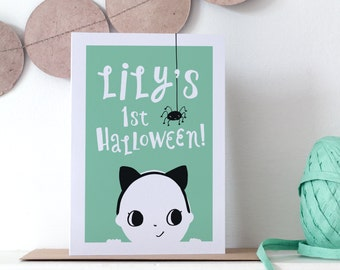 First Halloween Personalised Card