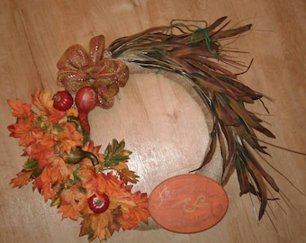 Thankful & blessed fall wreath