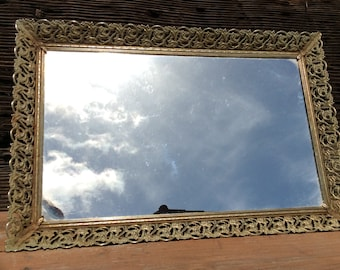 Vintage Mirror with beautiful gold trim