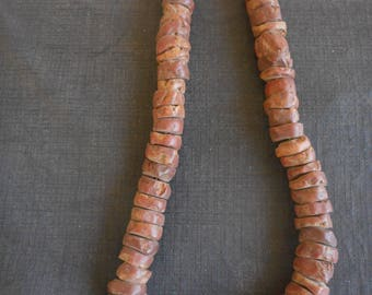 antique african bauxite beads