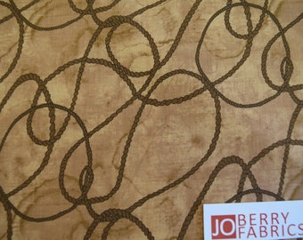 Rope from the Rodeo up Collection by Western Denim and Dirt for Blank Quilting.  Quilt or Craft Fabric, Fabric by the Yard.