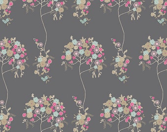AGF PREMIUM COTTON Fabric Art Gallery Fabrics Tree Fleur Sombre Fabric 100% Premium Cotton Quilting Fabric French Floral Fabric Pink Floral