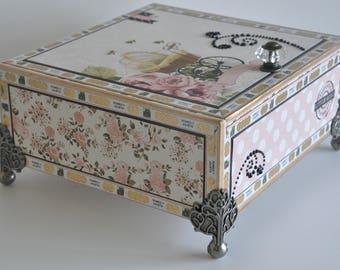Altered Cigar Box Baby Girl Home Decor