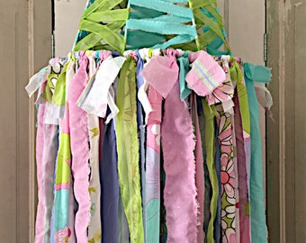 Colorful fabric strip Lampshade Canopy