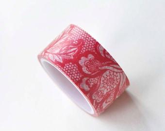 Flower Washi Tape / Japanese Masking Tape 20mm wide x 5m long No.13167