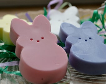 Marshmallow Easter Bunny Soap Set - Spring Soap - Easter Candy Soap - Soap for Kids - Childrens Soap - Novelty