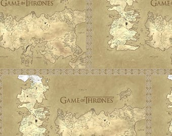 Game of Thrones Map of Westeros Cotton Fabric by the yard