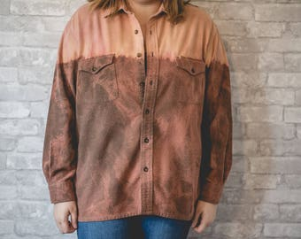 XL brown bleached flannel
