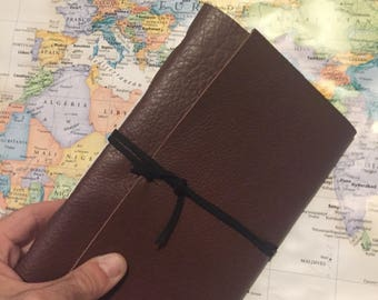 Leather Travel Journal, personalized FREE, customize, travel notebook, travel diary, custom journal