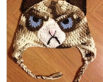 crochet pattern grumpy cat amigurumi pdf instant download. Black Bedroom Furniture Sets. Home Design Ideas