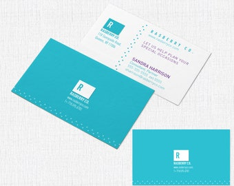 100 Business Card  2 x 3.5 - Style Rasberry Co