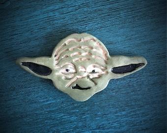 Ceramic Yoda Magnet