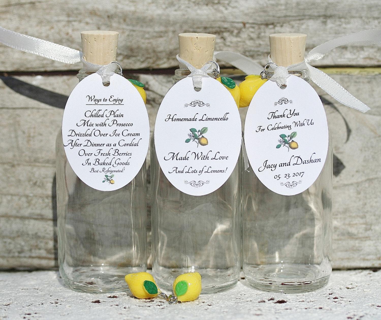 70 Bottles/Tags/Lemon Charms/Corks/Twist Caps 2 Oz Limoncello