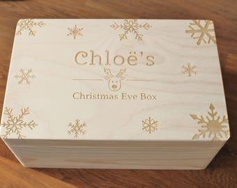 Christmas Eve Box, Personalised Christmas Eve Box, Personalised Wooden Box, Surprise Christmas Eve Box, Xmas Eve Box, Night before Christmas