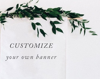 Custom Linen Banner / Backdrop for Weddings or Home