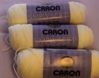 CARON Simply Soft Acrylic Yarn Off White