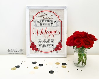 Welcome Race Fans Derby Party Sign, Printable, Horse Race Decoration, Decor, Run for the Roses, Racing, Jockey, Instant Download, Digital
