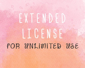 Extended license for unlimited use