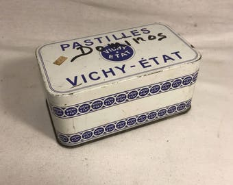 Old box Metal PASTILLES VICHY condition in its juice #6