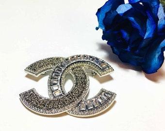 Silver Chanel Brooch Pin