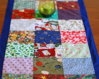 Table Runner Long Breakfast Colorful Handcrafted Quilted Christmas Holiday Living Room Decoration