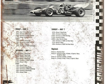 "Laguna Seca Formula One Race Schedule 10"" X 7"" Reproduction Metal Sign A600"