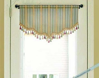 Shaped Valance for French Door or Narrow Window Lined & French door valance | Etsy