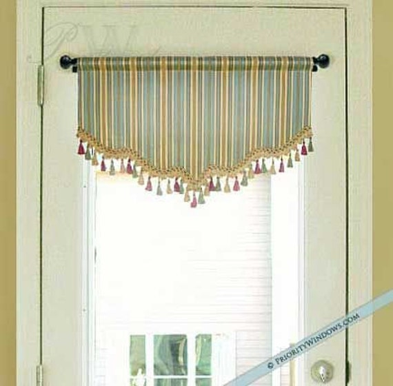 Shaped Valance For French Door Or Narrow Window Lined