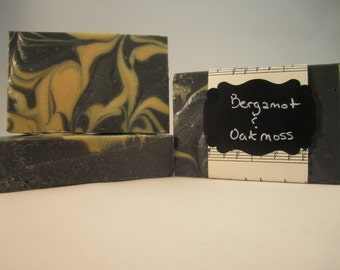 Bergamot and Oakmoss Goat Milk Soap with Activated Charcoal