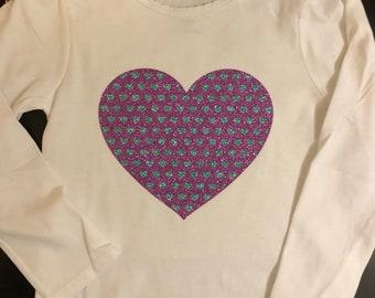 Toddler Glitter Heart of Hearts Tee