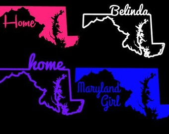 Maryland Home State Custom Decal Window Sticker