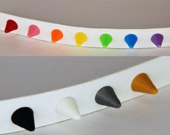 Spike Rivet Studs Kit Plastic Rivet Easy Customizable for Costumes Custom Cosplay Shoes Bracelet Hat Belt Jacket Matte Finish
