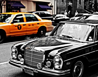 New York Photography, Yellow Cab, Taxi, Vintage, Retro, Manhatten, Mad Men, Black & White, Street Art,Car,Office,Fashion Photography, Dorm