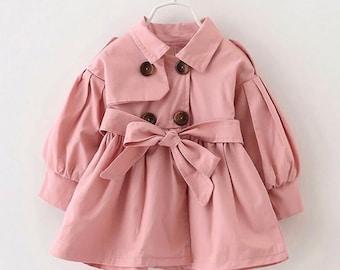 Casey Blush toddler trench coat