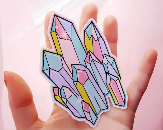 Crystal White Vinyl Sticker Set