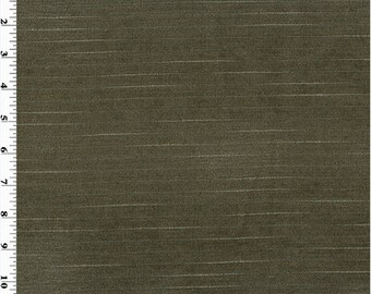 Designer Bark Brown Chenille Pinstripe Decorating Fabric, Fabric By The Yard