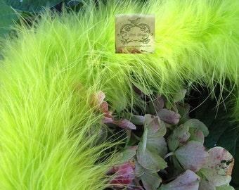 Chartreuse Marabou Boa Feathers