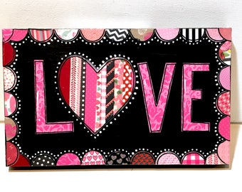 Valentine Decor, Love Sign, Valentine Sign